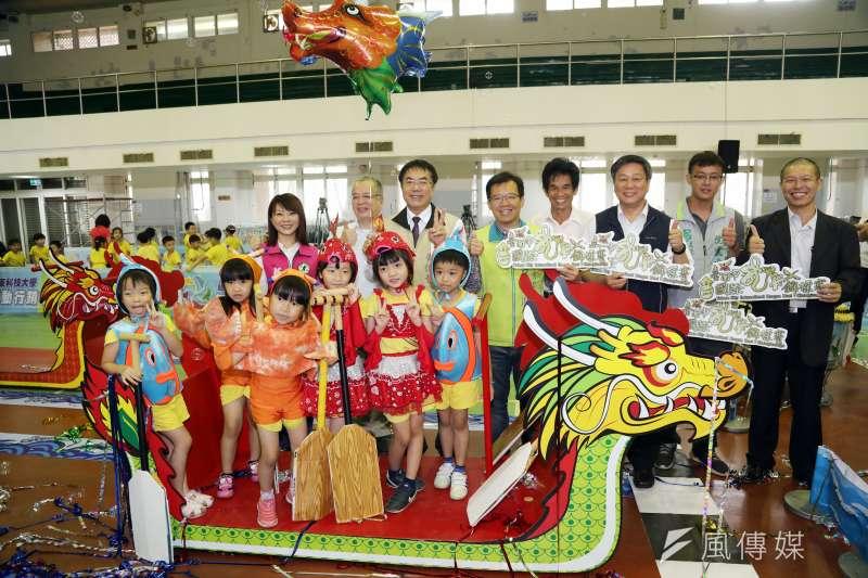 2019臺南端午嘉年華暨國際龍舟錦標賽即將在台南運河盛大舉行,舉辦宣傳記者會。(圖/徐炳文攝)