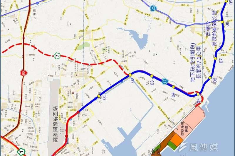 高雄市政府捷運工程局表示,市府曾請交通部補助小港林園延伸線。(圖/徐炳文攝)