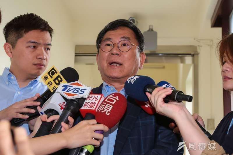 民進黨立委陳明文表示,願為高鐵300萬現金案接受黨內廉政委員會調查。(資料照,顏麟宇攝)