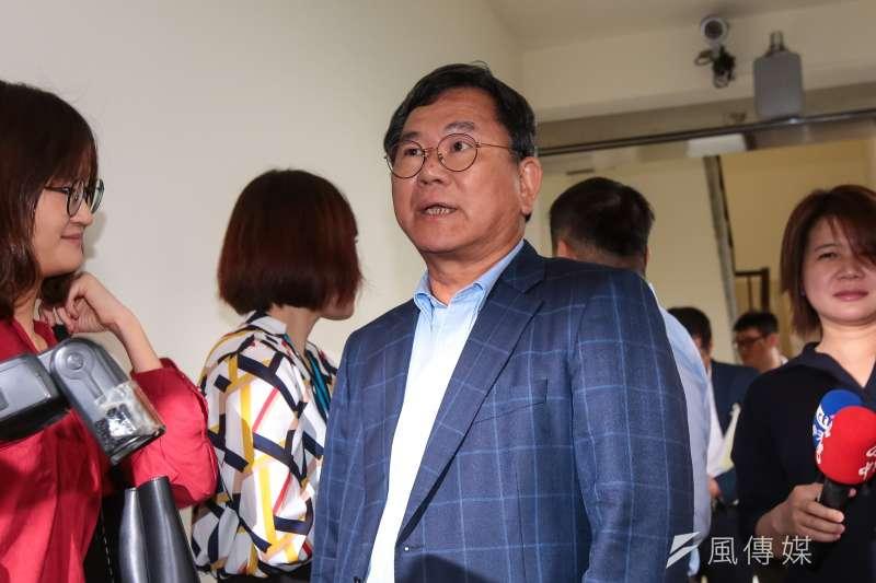 20190523-民進黨立委陳明文23日於立院接受媒體聯訪。(顏麟宇攝)