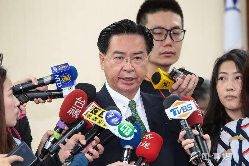 外交部長吳釗燮嚴詞否認他代筆蔡總統的博士論文。(資料照片,顏麟宇攝)