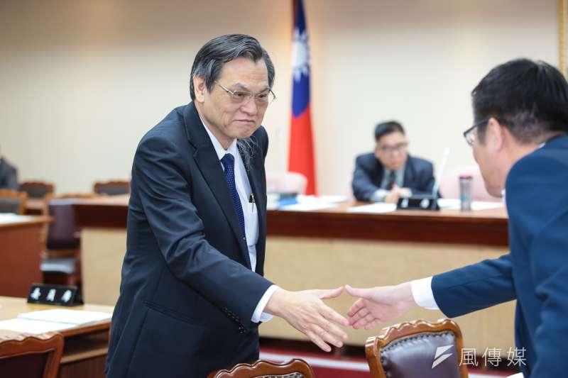 陸委會主委陳明通出席立院內政委員會。(顏麟宇攝)