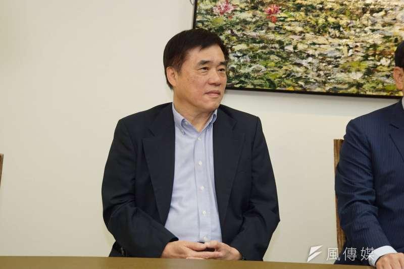 國民黨副主席郝龍斌反駁「黑韓挺郭」的傳言。(資料照片,盧逸峰攝)