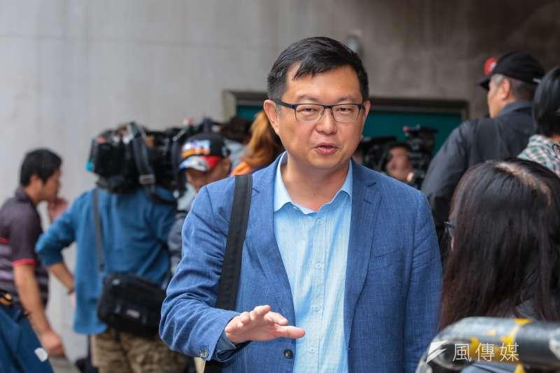 20190523-賴清德辦公室發言人李退之23日於立院接受媒體聯訪。(顏麟宇攝)