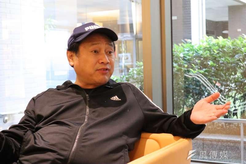 2019年5月23日,中國八九民運領袖王軍濤接受《風傳媒》專訪。(蔡娪嫣攝)