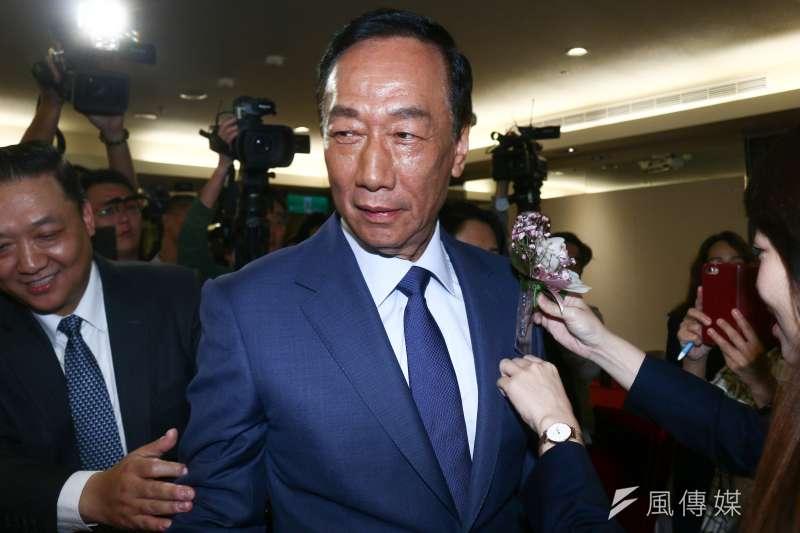 郭台銘昨日(24)出席「電機電子工業同業公會理監事改選」。(圖/蔡親傑攝)