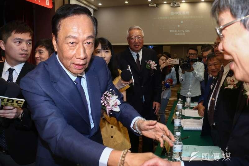 鴻海董事長郭台銘怒批中國時報是「最大隻假韓粉」。(資料照片,蔡親傑攝)