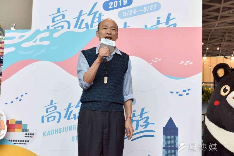 韓國瑜期望透過旅展,能讓旅遊業及大家更注意及更重視高雄。(圖/徐炳文攝)