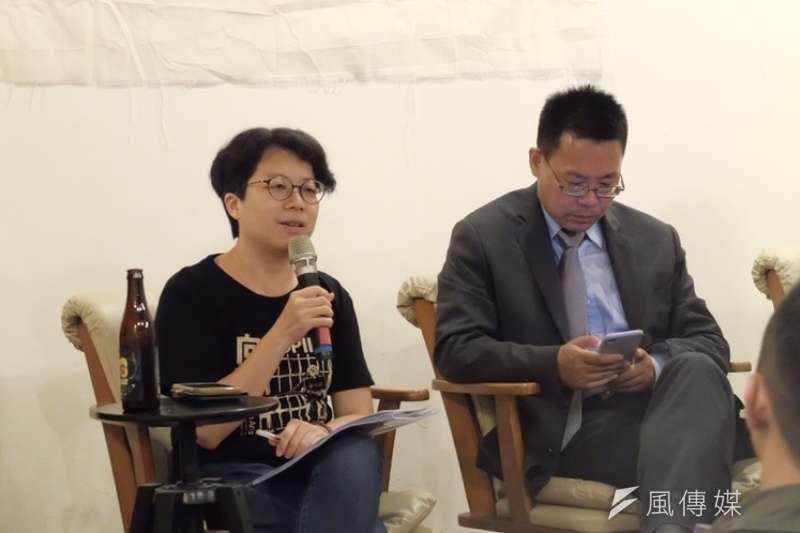 20190525-六四事件將屆滿30周年,廢死聯盟副執行長吳佳臻進行演講。(謝孟穎攝)