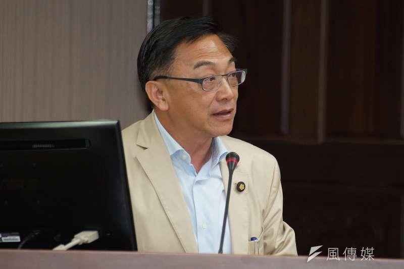 20190527-立委陳宜民出席衛環委員會質詢。(盧逸峰攝)