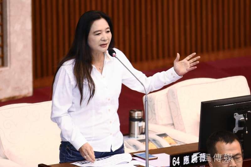 20190527-台北市議員應曉薇27日於市議會質詢台北市長柯文哲。(蔡親傑攝)