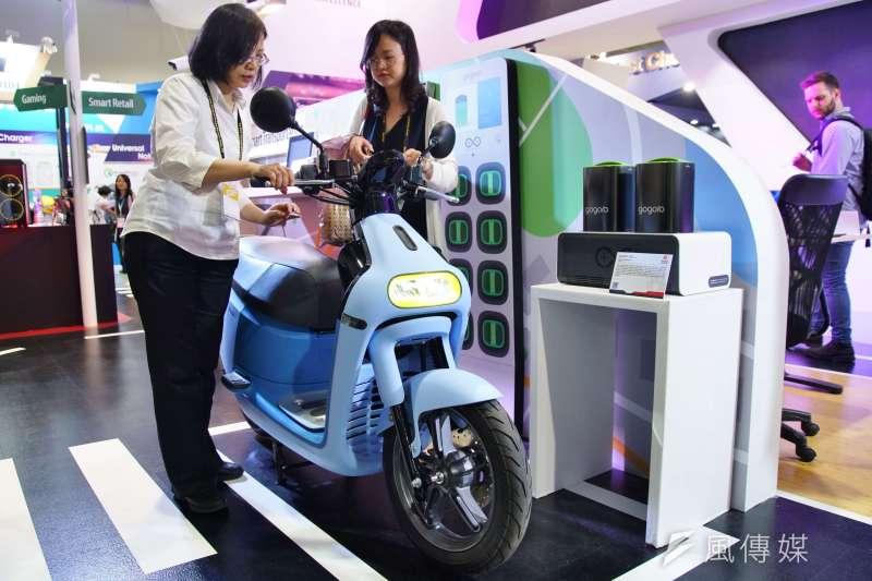 20190528-2019台北國際電腦展,Gogoro電動機車。(盧逸峰攝)