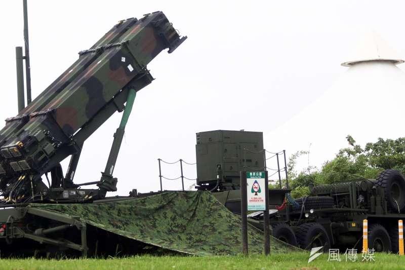 國軍漢光35號演習28日進入第二天。圖為現正部署在大佳河濱公園內的愛國者三型飛彈。(資料照,蘇仲泓攝)
