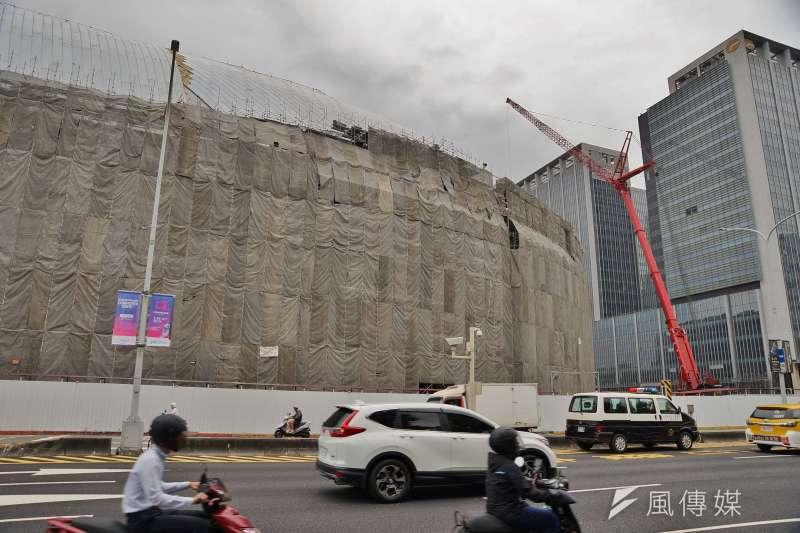 20190529-台北大巨蛋施工一景。(盧逸峰攝)
