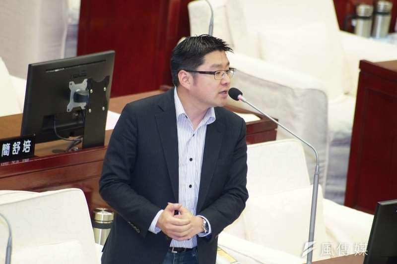 20190529-台北市議會市政總質詢,市議員徐弘庭發言。(盧逸峰攝)