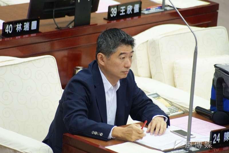 20190529-台北市議會市政總質詢,議員陳炳甫出席。(盧逸峰攝)