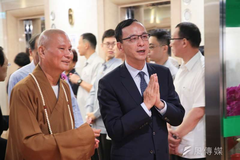20190529-前新北市長朱立倫29日出席淨空老和尚弘法60周年暨華藏淨宗學會成立30周年紀念活動。(顏麟宇攝)