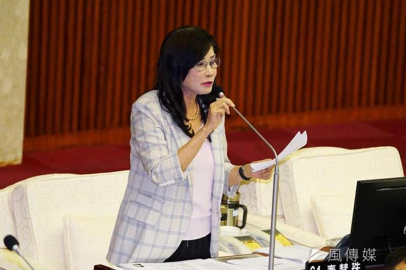 20190530-台北市議會市政總質詢,議員秦慧珠出席。(盧逸峰攝)