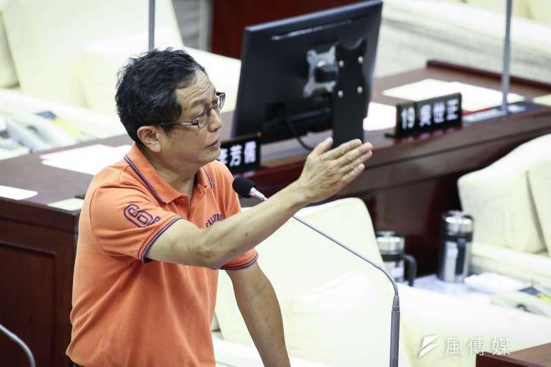 20190531-台北市長柯文哲赴市議會進行市政總質詢及答覆,台北市議員周威佑。(陳品佑攝)