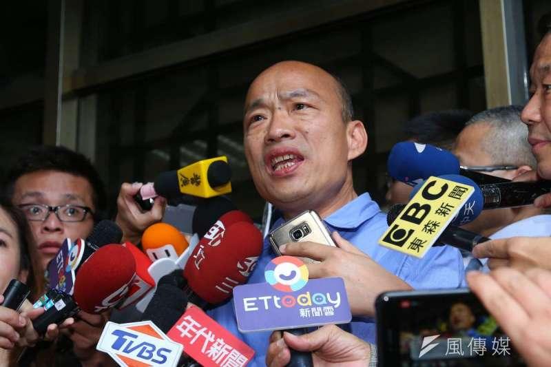 資深媒體人蔡詩萍認為,國民黨總統初選的遊戲規則,一再的遷就於高雄市長韓國瑜(見圖)。(資料照,顏麟宇攝)