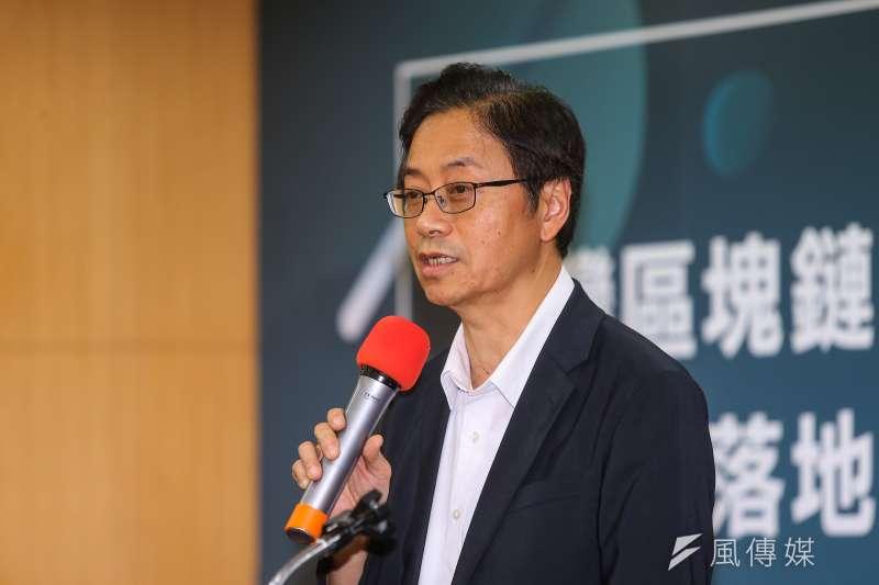 20190531-前行政院長張善政31日出席台灣區塊鏈大學聯盟成立大會暨產業落地論壇。(顏麟宇攝)