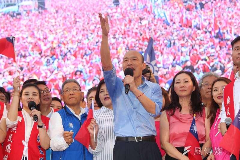 韓國瑜六一凱道造勢,重現九合一選舉時的「韓流」威力(顏麟宇攝)