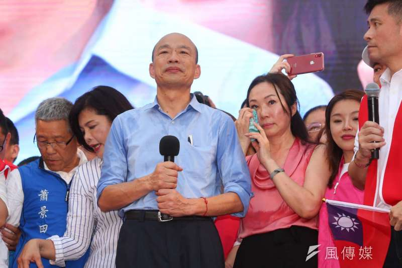 針對因李佳芬管事而產生「反李佳芬集團」的指控,韓國瑜今日回應,表示絕對沒有夫人干政的問題。(資料照,顏麟宇攝)