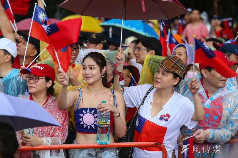 20190601-挺韓國瑜辣妹1日出席凱道「決戰2020,贏回台灣」全國團結造勢大會。(顏麟宇攝)