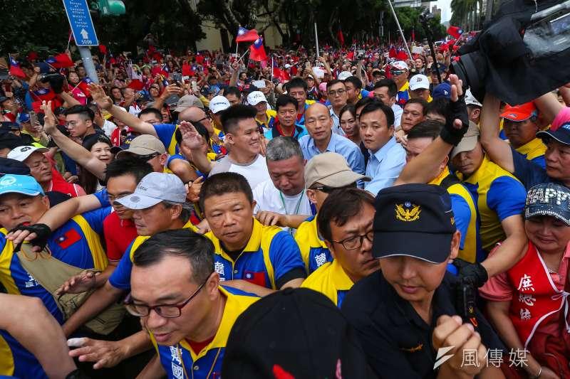 20190601-高雄市長韓國瑜1日出席凱道「決戰2020,贏回台灣」全國團結造勢大會。(顏麟宇攝)