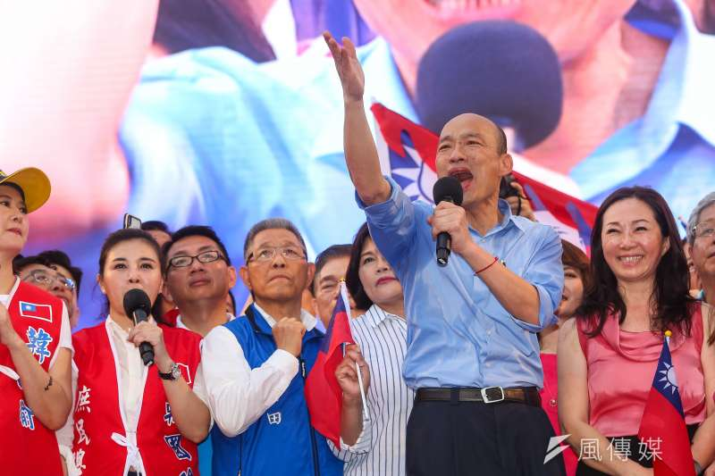 角逐國民黨總統提名的高雄市長韓國瑜去年競選喊「發大財」,只是船過水無痕的口號嗎?(資料照,顏麟宇攝)