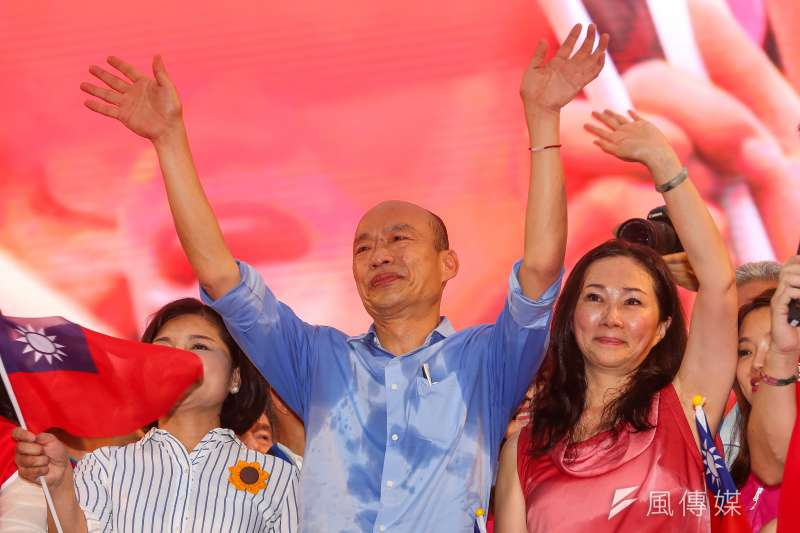 高雄市長韓國瑜出席凱道「決戰2020,贏回台灣」全國團結造勢大會。(顏麟宇攝)