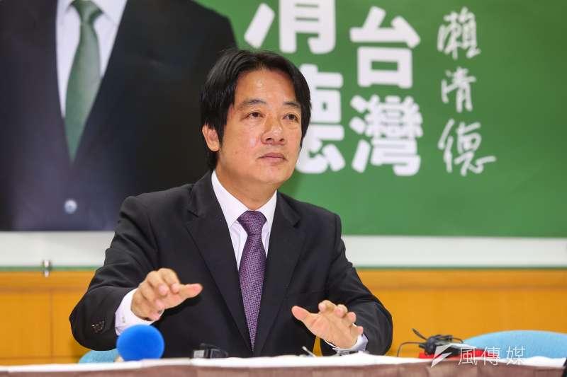 賴清德上午舉行「賴清德守護台灣」記者會。(顏麟宇攝)