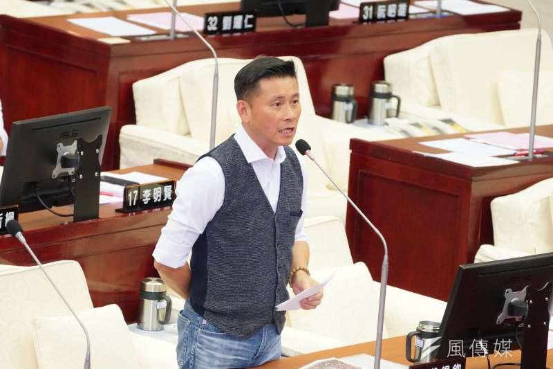 20190603-台北市議員戴錫欽出席市政總質詢。(盧逸峰攝)