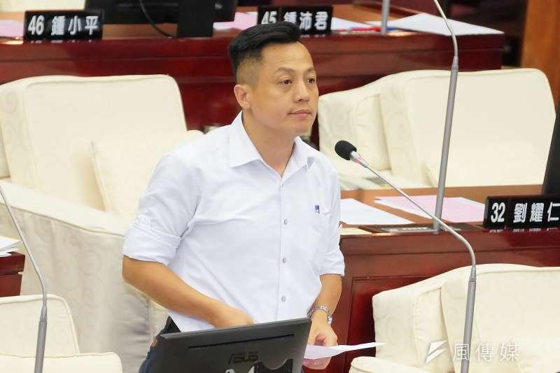20190603-台北市議員李明賢出席市政總質詢。(盧逸峰攝)