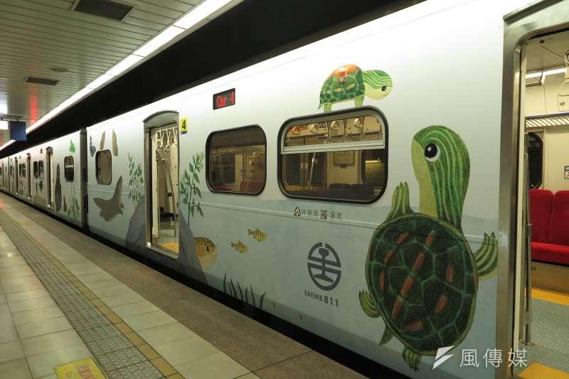 20190603_里山動物列車2.0,外觀有動物彩繪。(廖羿雯攝)