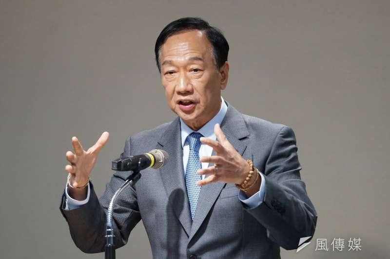 郭台銘認為政府應該著重發展國、高中的技術職業教育。(資料照/盧逸峰攝)