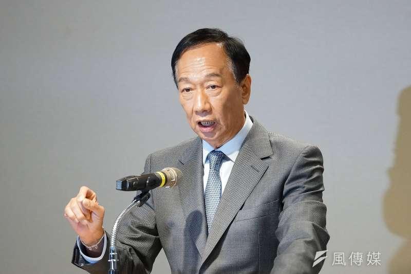 聞聲救苦還不夠。圖為鴻海董事長郭台銘召開「應對中美貿易戰下的台灣嚴重危機」記者會。(盧逸峰攝)