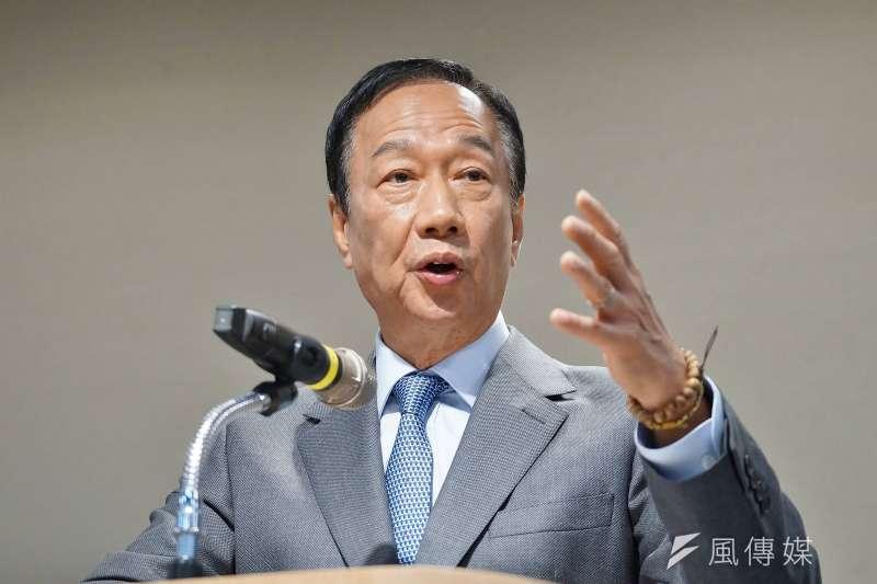 20190603-鴻海董事長郭台銘召開「應對中美貿易戰下的台灣嚴重危機」記者會。(盧逸峰攝)
