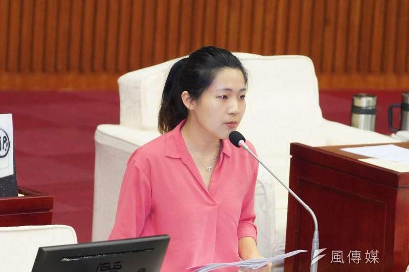 20190604-台北市議會市政總質詢,議員徐巧芯發言。(盧逸峰攝)
