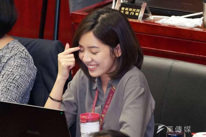 雖被民眾黨寄予厚望,但北市府副發言人黃瀞瑩參選北市第一選區立委的意願始終不高,據傳黨內高層已放棄勸進。(資料照,盧逸峰攝)