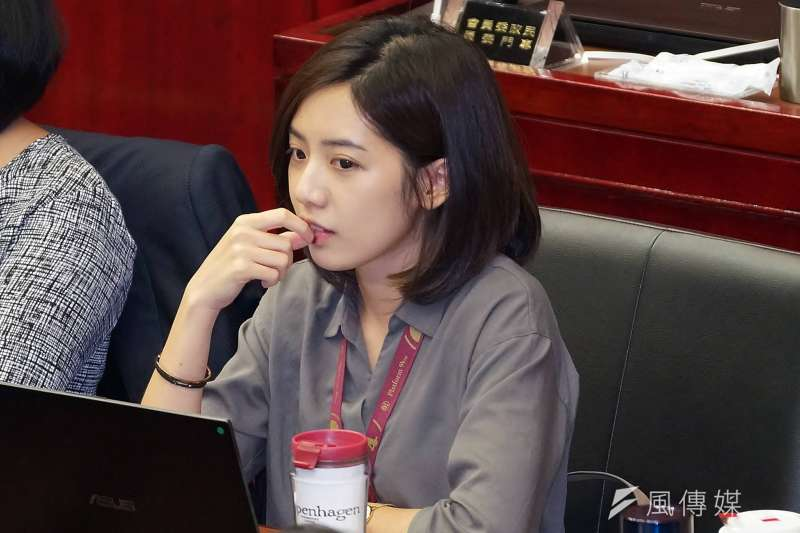 20190604-台北市議會市政總質詢,市府副發言人黃瀞瑩出席。(盧逸峰攝)