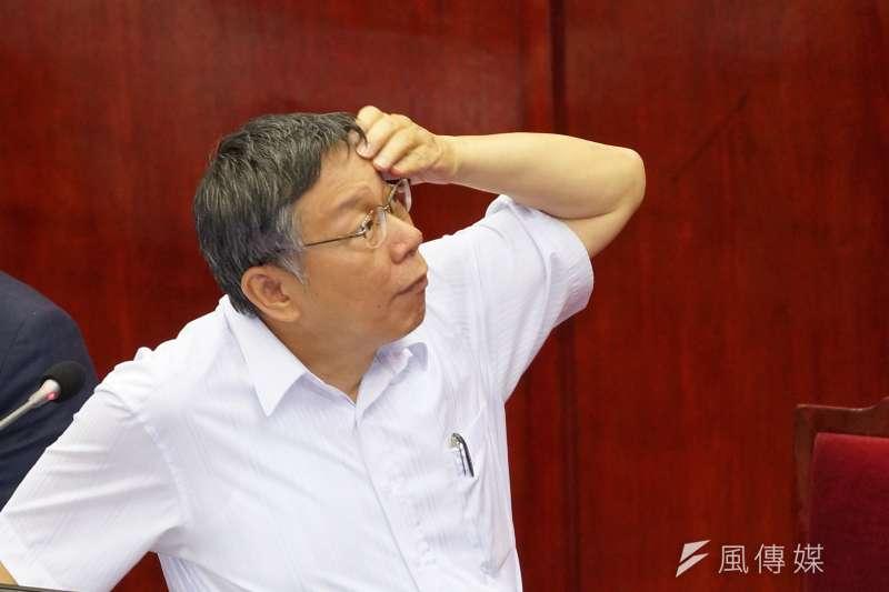 台北市長柯文哲自上任後取消發放重陽敬老金,現在國民黨議會黨團強勢提出法案下,台北市政府也想好因應對策。(資料照,盧逸峰攝)