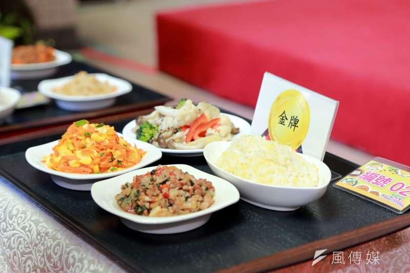 台南市學校的營養午餐是第一名。(圖/徐炳文攝)