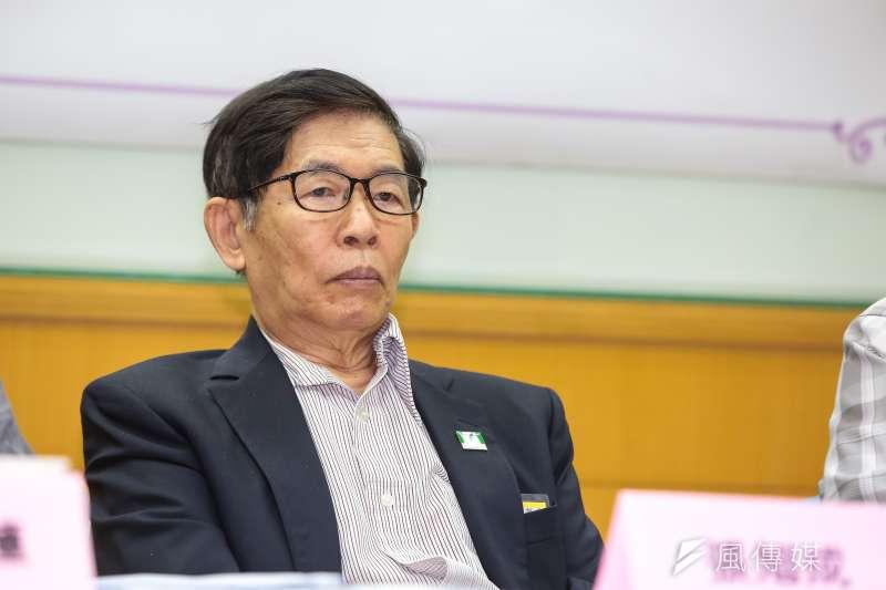 20190604-前國安會副秘書長張旭成4日出席「公投修法:頭痛,鋸腿」記者會。(顏麟宇攝)