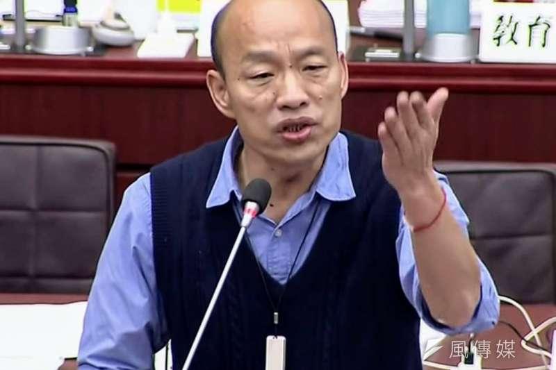高雄市長韓國瑜今(13)日表示,民進黨的總統初選結果為台灣「帶來非常不好的民主示範」。(資料照,徐炳文攝)
