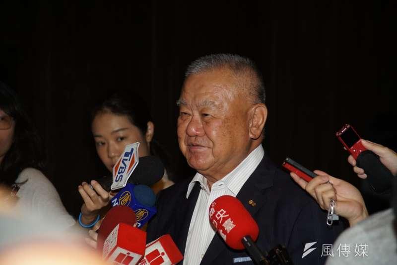 20190605-工商協進會第25屆第5次理監事聯席會議,理事長林伯豐受訪。(盧逸峰攝)