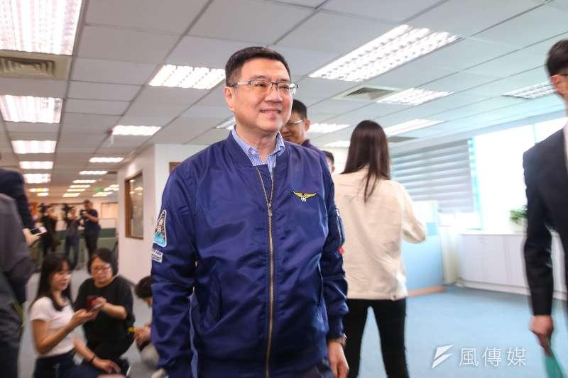 民進黨主席卓榮泰5日出席民進黨中常會,談及總統初選民調。(顏麟宇攝)