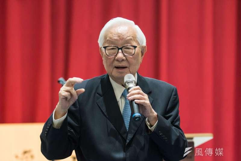 20190605-台積電創辦人張忠謀5日出席「李國鼎百秩晉十紀念講座」。(蔡親傑攝)