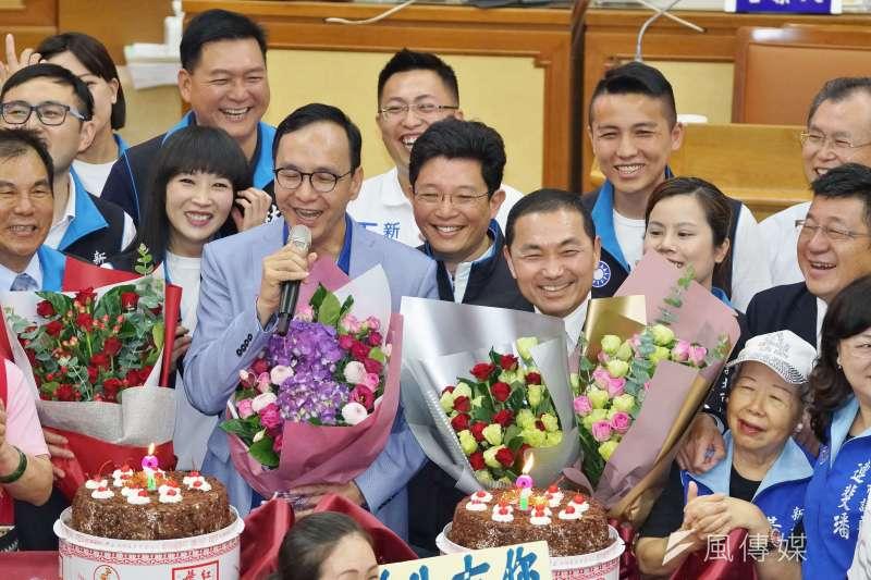 20190606-新北市議會國民黨團邀朱立倫、侯友宜參加慶生會,並力挺前進總統府。(盧逸峰攝)