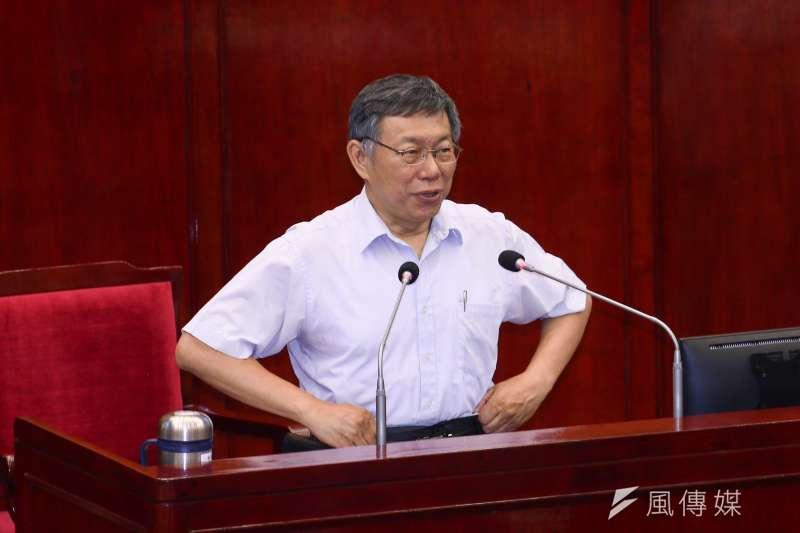 20190606-台北市長柯文哲6日至市議會接受市政質詢。(蔡親傑攝)